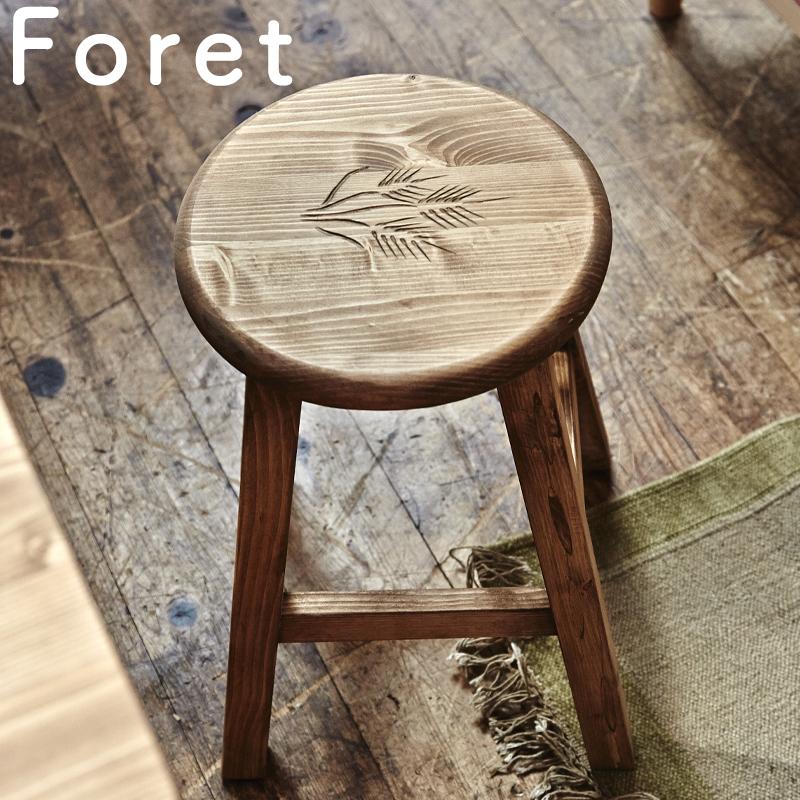 【送料無料】CFS-515 フォレ丸スツール椅子 スツール 木製 北欧 丸型天然木(パイン) オイル仕上