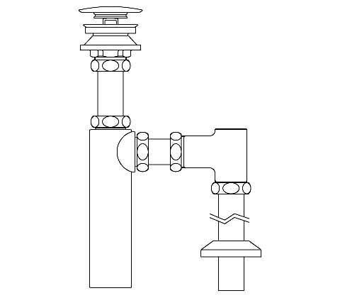 LF-731SAC 排水ボトルSトラップ(排水口カバー付) LIXIL