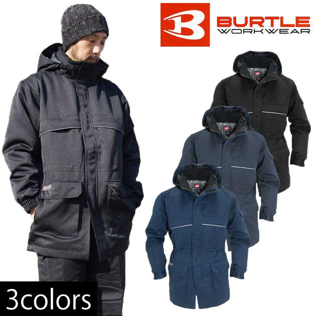 作業服 作業着 ワークウェア 5L BURTLE バートル 秋冬作業服 防寒コート(大型フード付) 7111