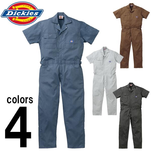 【4L-5L】 半袖type! [つなぎ 作業着] [作業服 つなぎ] [作業着 つなぎ] ディッキーズ 目の細かいストライプ柄が上品な印象の [つなぎ おしゃれ] [作業服] [dickies つなぎ] 上質ストライプ半袖つなぎ [ツナギ] [つなぎ ディッキーズ] つなぎ Dickies
