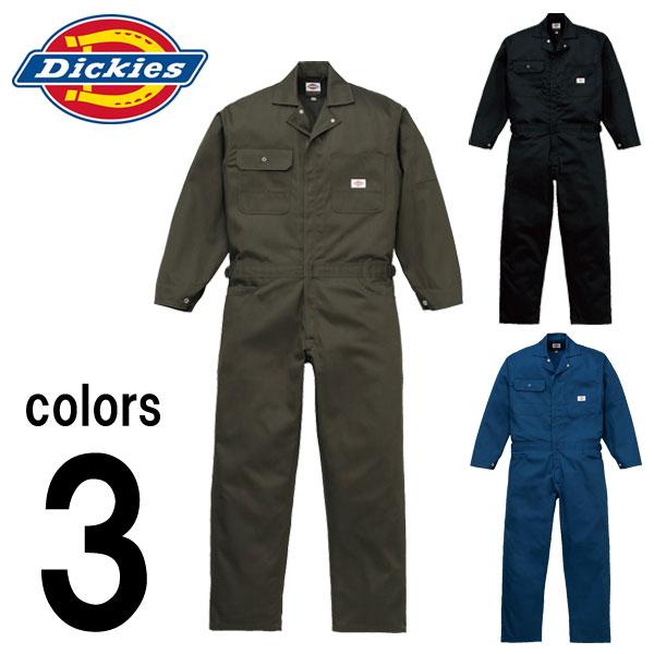 つなぎ ツナギ服 おしゃれ 3L~5L Dickies(ディッキーズ) 秋冬作業服 年間物つなぎ服 1002 刺繍 ネーム刺繍