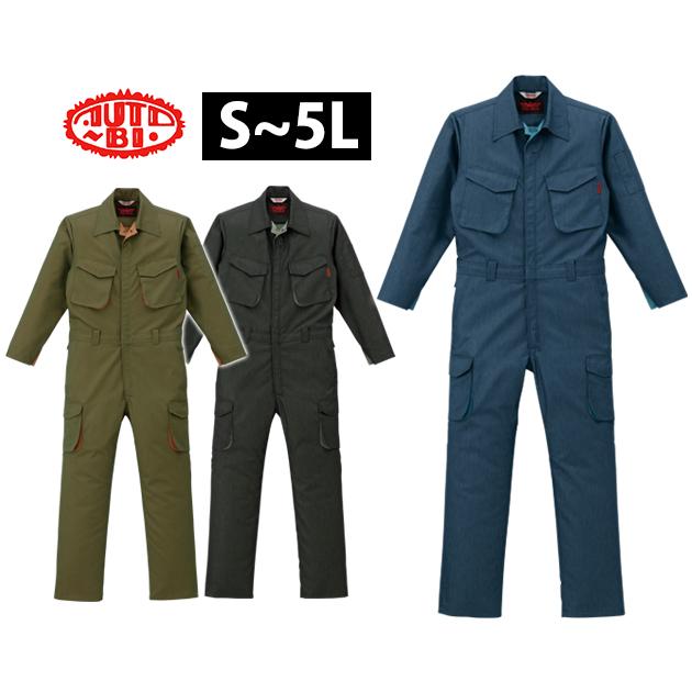 作業服 作業着 ワークウェア 4L~5L AUTO-BI 山田辰 年間作業服 ツヅキ服 91-ATO-2