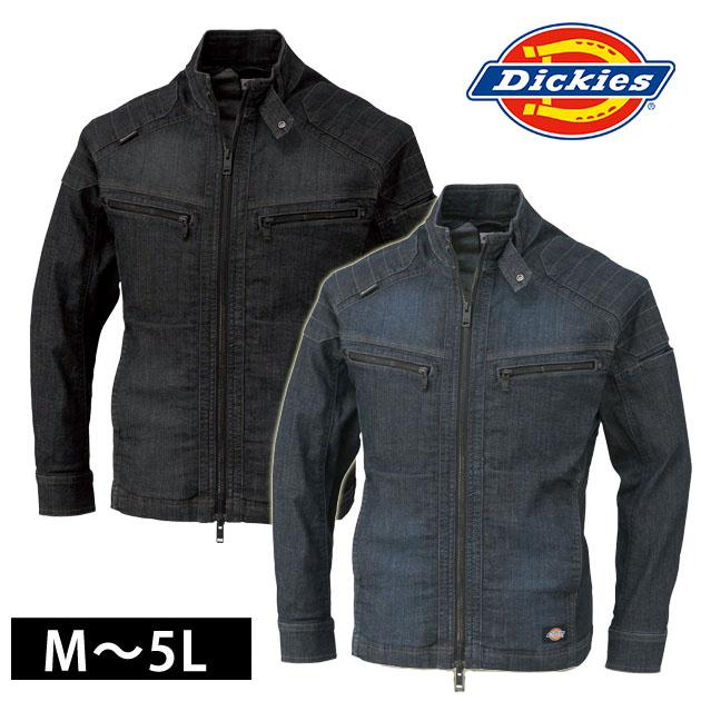 作業服 作業着 ワークウェア Dickies ディッキーズ 通年作業服 ストレッチデニムジャケット D-1430