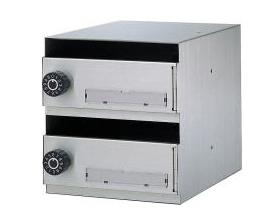 ハッピー COMPOS(コンポス) 集合ポスト CP-200 (2戸一体型省スペースタイプ) 前取出し・深型タイプ ※差入口のフラップ無し