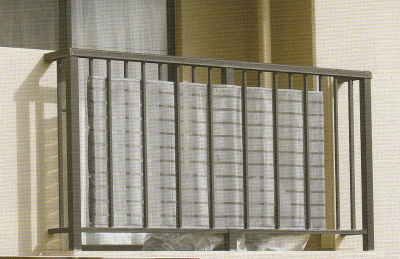 ベランダの目隠し用スクリーン イノベックス ダイオベール 高さ80cm×長さ180cm ベランダ目隠しネット シルバーグレイ色 311137 2020 新作 日本最大級の品揃え