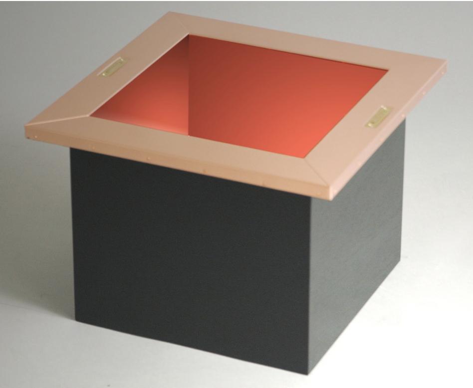 興和産業 茶室炉 一般住宅(茶室・日本間)向け 銅内張・耐火構造 H424×W424×深さ300 mm
