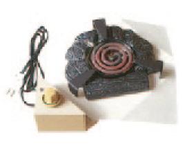 興和産業 茶室炉 電熱器 炭型シーズヒーター 500W サイズ:250×250×120mm