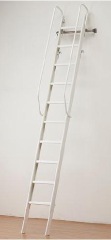 アルミ製 ロフト はしご 屋内用NLS-210EN型 (床面~ロフトの高さ:2150~2400mm) タラップ ステップ