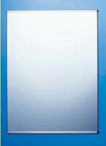 ステンレス製の割れない鏡 KAGAN(かがん) 盗難防止金具タイプ 鏡寸法:W357×H455 金具取付時寸法:W361×H457 シマブン KSN-3545型