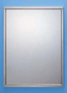 ステンレス製の割れない鏡 KAGAN(かがん) 四方枠金具タイプ 鏡寸法:W357×H455 金具取付時寸法:W391×H491 シマブン KSS-3545型