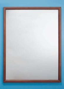 ステンレス製の割れない鏡 KAGAN(かがん) 木枠タイプ 鏡寸法:W460×H910 金具取付時寸法:W482×H934 シマブン KSW-4590型