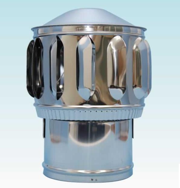 【ベンチレーター 回転型 径150ミリ・網無し】 適用パイプ:外径139.8ミリ(125A) ステンレス製 ×1個