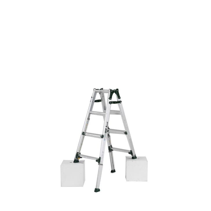 アルインコ 伸縮脚付きはしご兼用脚立 PRT-120FX 踏ざん幅60mm・各脚441mm伸縮  代引き不可