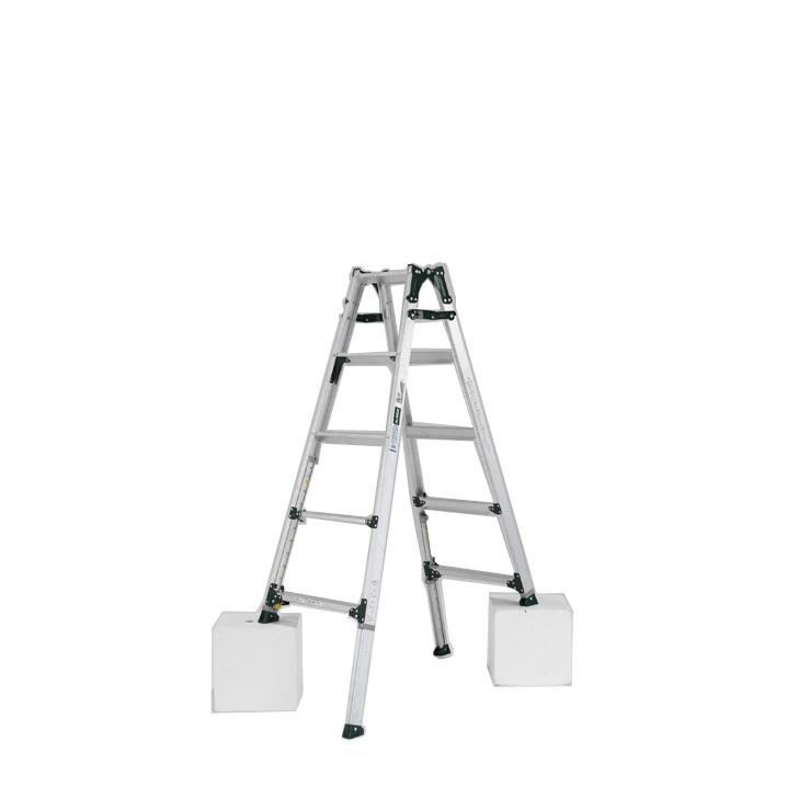 アルインコ 伸縮脚付きはしご兼用脚立 PRT-150FX 踏ざん幅60mm・各脚441mm伸縮  代引き不可