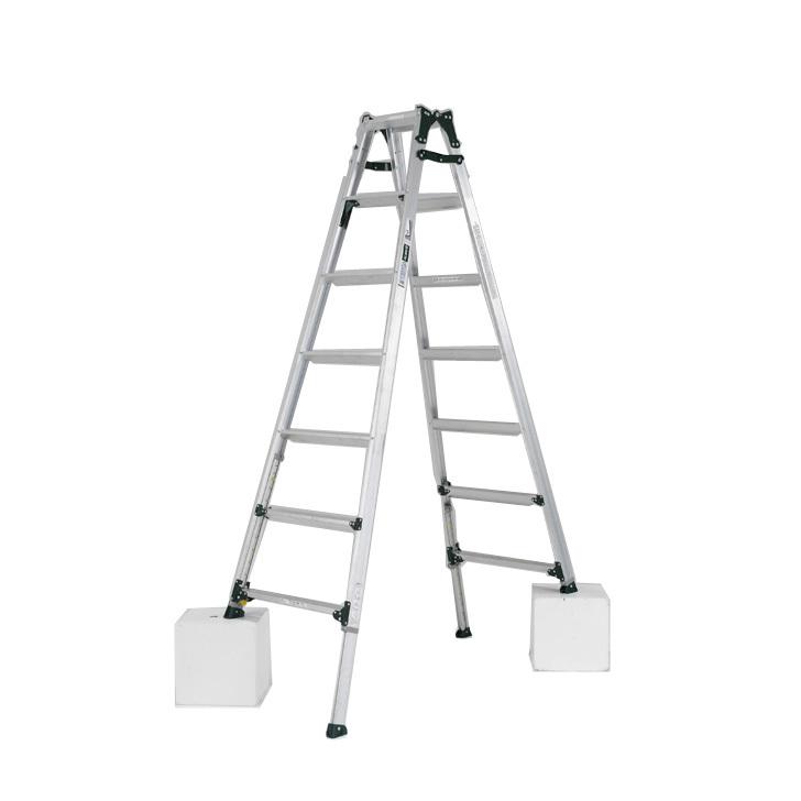 アルインコ 伸縮脚付きはしご兼用脚立 PRT-210FX 踏ざん幅60mm・各脚441mm伸縮  代引き不可
