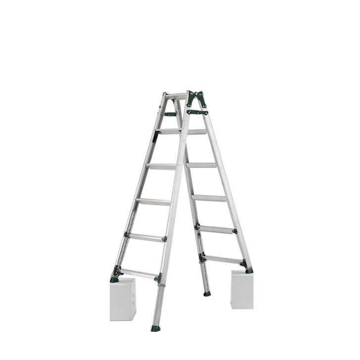 アルインコ 伸縮脚付きはしご兼用脚立 PRT-180FX 踏ざん幅60mm・各脚441mm伸縮  代引き不可