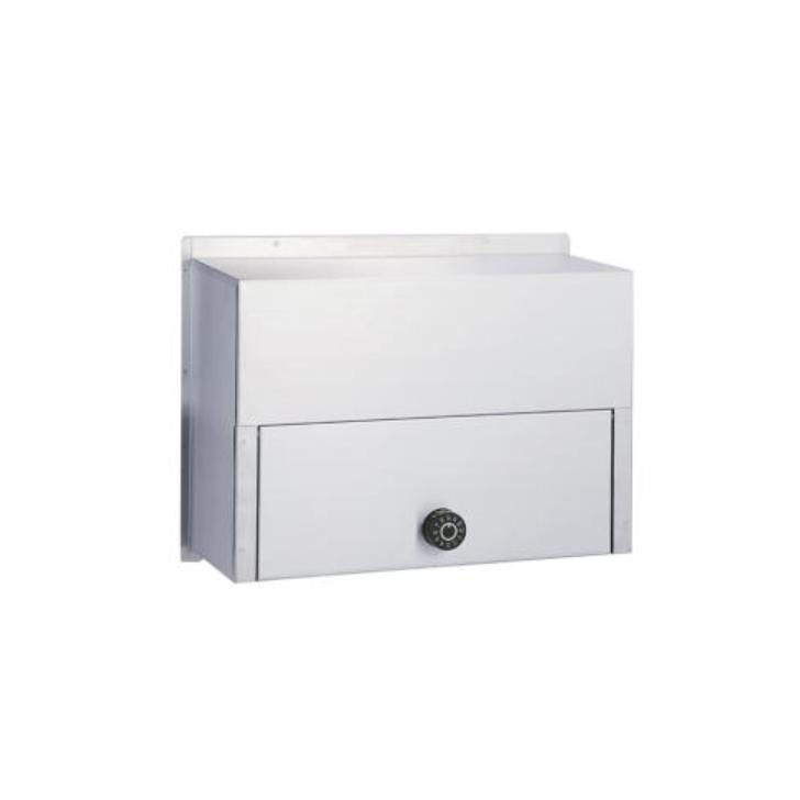 送料無料 HSK ハッピー金属 ファミール 670-K ステンレス 内掛用 ポスト受箱 ダイヤル錠 代引き不可