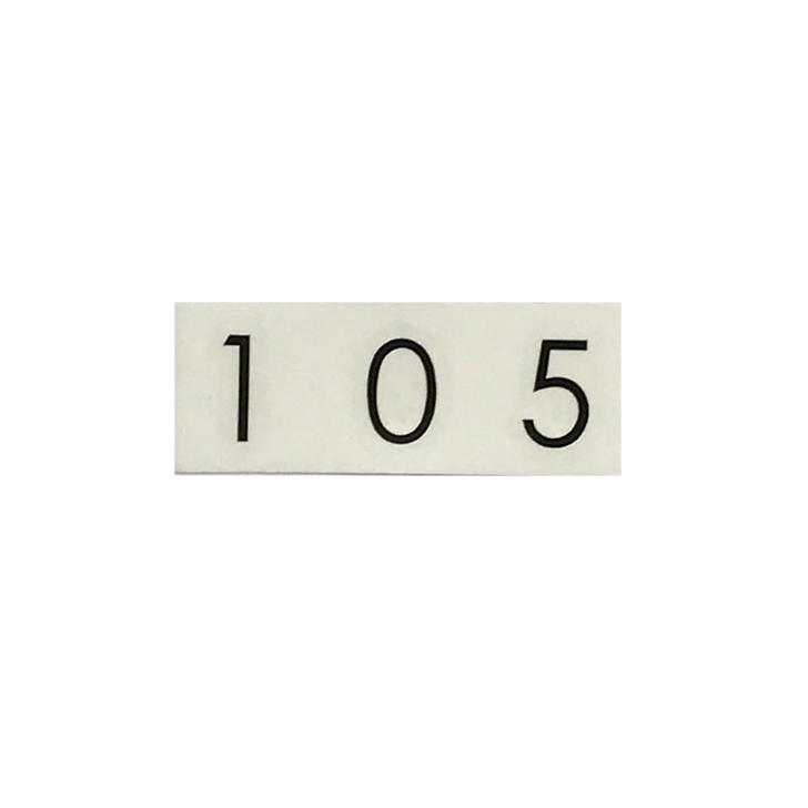 転写タイプのナンバーシール NASTA ナスタ KS-NCY-3 格安店 予約販売品 ルームナンバーシール メール便発送 3桁用 切文字タイプ 数字