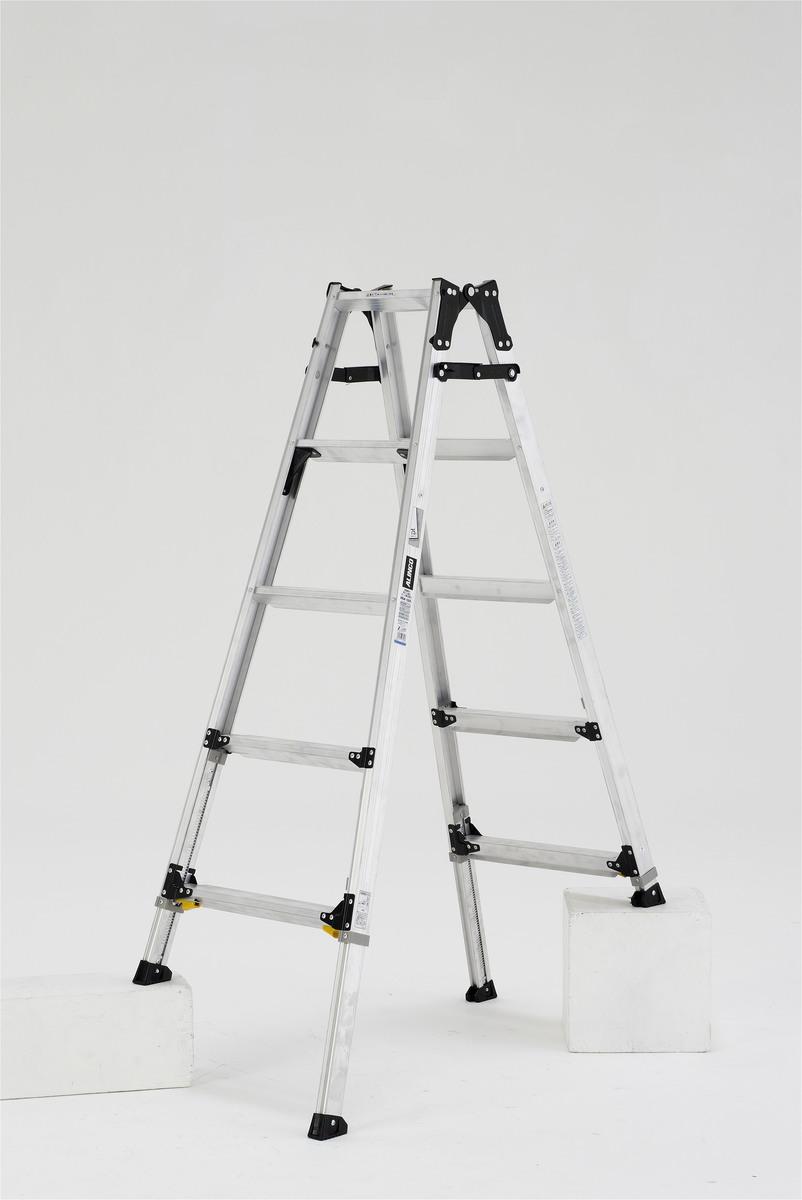 ALINCO アルインコ PRW-150FX 伸縮脚付きはしご兼用脚立 踏ざん幅60mm 各脚303mm伸縮 代引き不可
