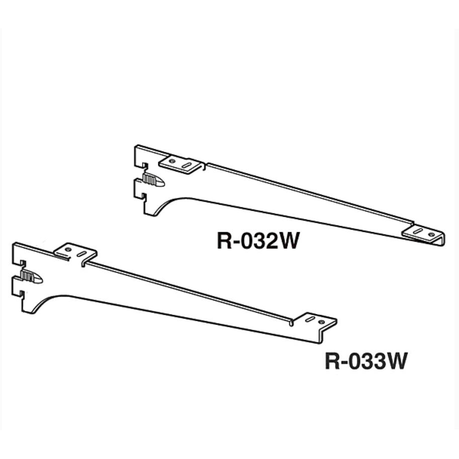 ロイヤルAAシステム トレンド 木棚用ブラケット ROYAL ロイヤル R-032W 期間限定今なら送料無料 クローム R-033W-100 左右セット 呼100ミリ
