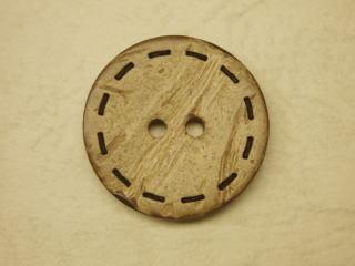 天然素材 ステッチ カジュアル 二つ穴 ボタン-23mmNBTM-40169-23 ナット ヤシの実 スピード対応 激安通販ショッピング 全国送料無料 ネコポス便OK