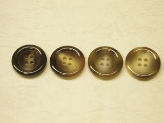 シンプル 四つ穴 コゲ茶 中茶 モカ茶 営業 全品送料無料 メンズジャケット用ボタン-2 コート用 25mmPBAZ-133113-25 ベージュ ネコポス便OK