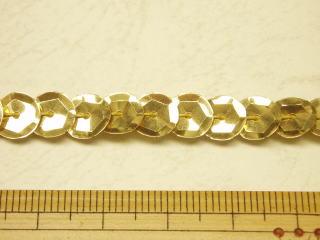 ゴールド 信憑 コスチューム 衣装 10cm単位販売 プレゼント 8-41 8mm亀甲スパンコールテープSPDG-1758 ネコポス便OK