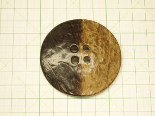 大きなボタン 天然素材 お歳暮 洋服のボタン ナット ヤシの実 ボタン-60mmNBTM-41001-60 激安挑戦中 DM便OK