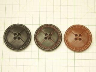 カジュアル ステッチ 大きなボタン 黒 日本最大級の品揃え こげ茶 赤茶 豪華な 本革調ボタン-40mmIROD-30-40 ネコポス便OK コート