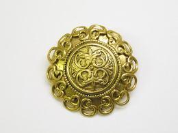 割引 ゴールド 金属ボタン 在庫処分 フランス製 受賞店 ビンテージ メタルボタン-35mmMBEM-583-35 高級品 真鍮 DM便OK