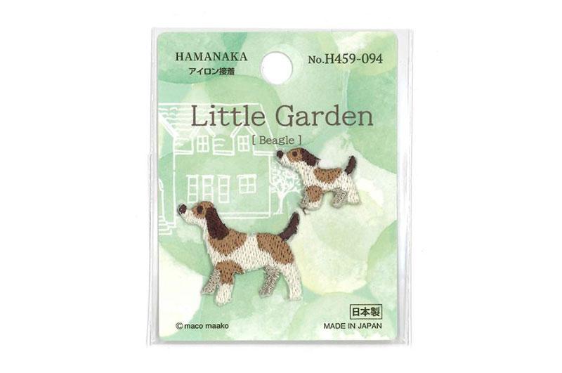 アイテム勢ぞろい 持ち物の目印やワンポイント等に アイロン接着ワッペン 待望 Beagle Little Garden