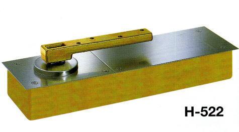 NEWSTAR フロアヒンジ 一般ドア用 中心吊り自由開き H-522 (ストップなし)