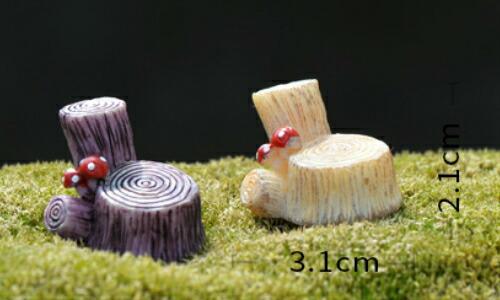 建物 テラリウムフィギュア ミニフィギュア コケリウム ジオラマ おもちゃ イベント きのこ付き もたれ木のいす 約3.1*2.1cm 建物 テラリウムフィギュア ミニフィギュア コケリウム ジオラマ おもちゃ イベント