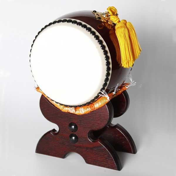 ≪太鼓の里 浅野≫太鼓匠・この道400年の浅野太鼓が作る飾り太鼓 飾り太鼓(台・バチ付)5寸