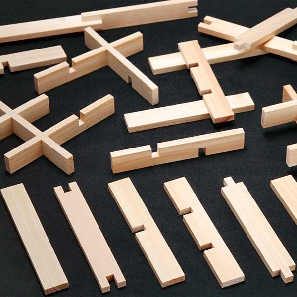 【知育玩具】≪くみっこ倶楽部≫創造積み木くみっこ1800本(6種各300本)