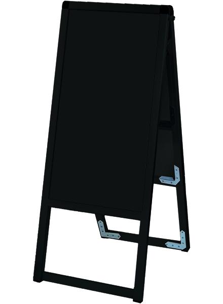 ブラックバリウススタンド看板 ブラックボードタイプ 300×600両面 BVASKBB-300X600R / 【送料無料】【日本製】【頑丈】屋外看板 立て看板 スタンド看板 A型看板 店舗前看板 ホワイトボード 黒板 ポスカ マグネット 飲食 店舗 看板 薄型 おしゃれ 高級