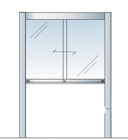 アルミ掲示板 LED 掲示板 自立 大型看板 ガラス掲示板 屋外 AGP-1210【LED付き】