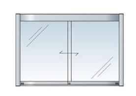 アルミ掲示板 LED 掲示板 壁付け 大型看板 ガラス掲示板 屋外 AGP-1510W【LED付き】