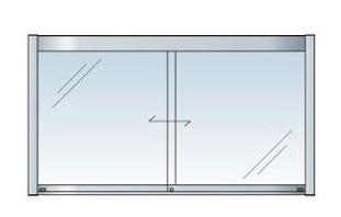 アルミ掲示板 LED 掲示板 壁付け 大型看板 ガラス掲示板 屋外 AGP-1810W【LED付き】