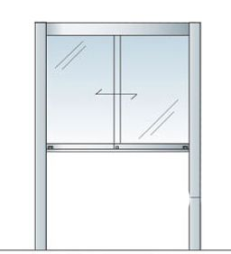 アルミ掲示板 LED 蛍光灯 掲示板 自立 大型看板 ガラス掲示板 屋外 AGP-1510【LED付き】