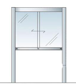 アルミ掲示板 掲示板 自立 大型看板 ガラス掲示板 AGP-1210【蛍光灯付き】