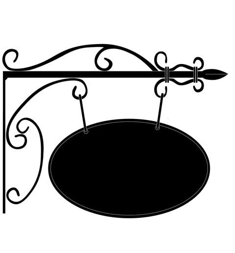 【本体のみ】サインプレート A型 アイアン ブラケット サイン ヨーロッパ ガーデン ガーデニング アンティーク 看板 輸入雑貨 ヨーロピアン 両面 屋外対応