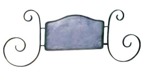 【本体のみ・印刷なし】サインプレート イタリアン型 アイアン ブラケット サイン ヨーロッパ ガーデン ガーデニング アンティーク 看板 輸入雑貨 店舗用 ヨーロピアン 片面 屋外対応