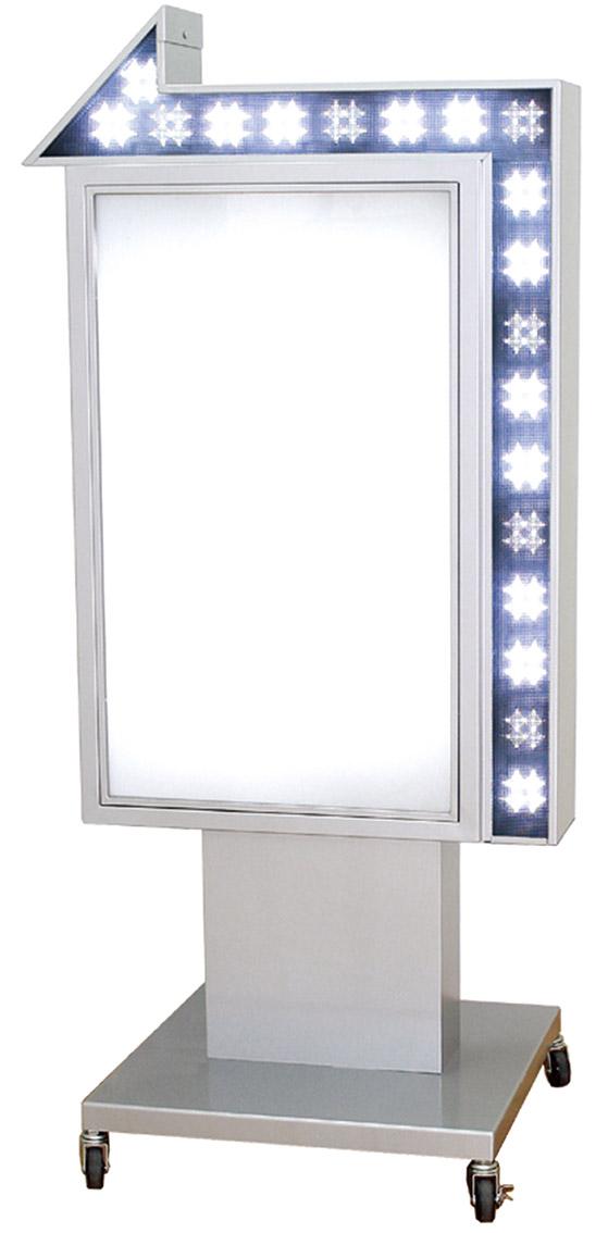 電飾スタンドサイン 電飾看板 内照式看板 矢印看板 点滅LED付 両面 屋外用 LY-206【本体のみ】