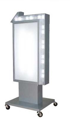 矢印看板 電飾スタンドサイン 電飾看板 点滅LED付 屋外用 LY-207【本体のみ】