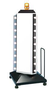 LED57-56 150 3面点滅ロータリー LED 回転灯付き スタンドサイン ロータリー型 回転看板 店舗看板 スタンド看板【本体のみ】