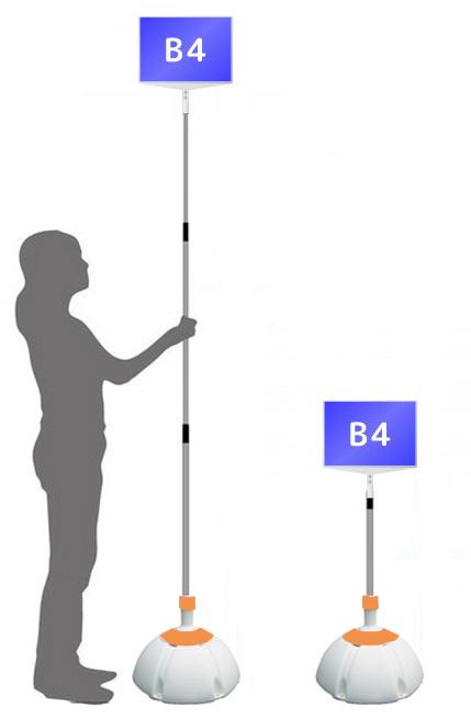 【ウエイト付き】 軽量 伸縮 差替式 プラカード 看板 手持ち看板 B4-両面【本体のみ】