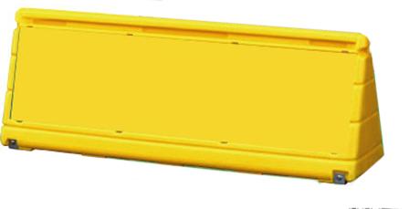 屋外用 樹脂性ブロック看板 ブロックサイン ワイドポップサイン 8(イエロー)・G-WPS-G(グレー)【本体のみ】