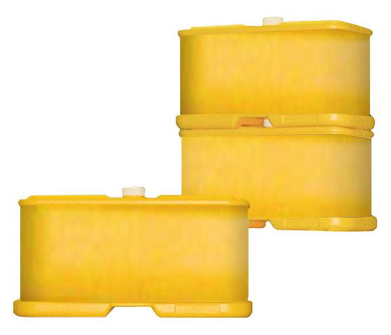 屋外用 樹脂性キュービックサイン G-5100-Y(イエロー)2個セット【本体のみ】