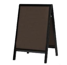マーカースタンド ブラックボード 黒板看板 黒板スタンド A型看板 店舗看板 マーカー用 屋内用 両面 450×600 2609【本体のみ】